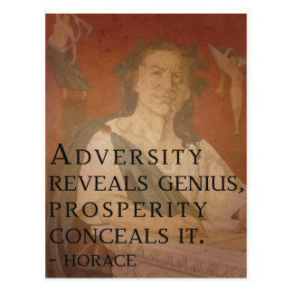 Horace quote on Genius Postcard
