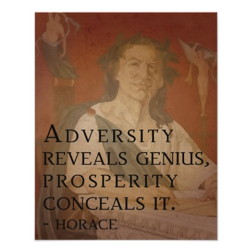 Horace quote on Genius Poster