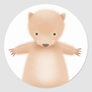 Horace the Hamster - white Classic Round Sticker