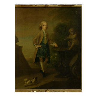 Horace Walpole, aged 10, 1727-8 Postcard