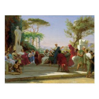Horatius Reading his Satires to Maecenas, 1863 Postcard