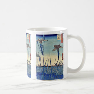 Horikiri iris garden by Ando, Hiroshige Ukiyoe Coffee Mug