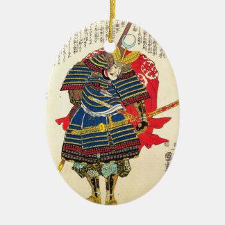 Horimoto Gidayû Takatoshi utagawa kuniyoshi Ceramic Oval Ornament