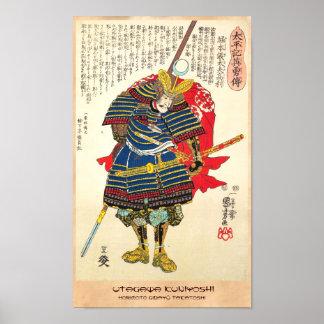 Horimoto Gidayû Takatoshi utagawa kuniyoshi Poster