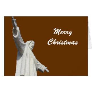 horiz bronzage de Noël de Jésus Cartes De Vœux
