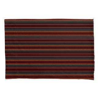 Horiz/Stripes Browns Blue Pillowcase Set