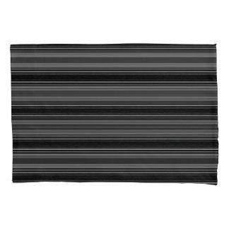 Horiz/Stripes Gray Black Modern Pillowcases Set