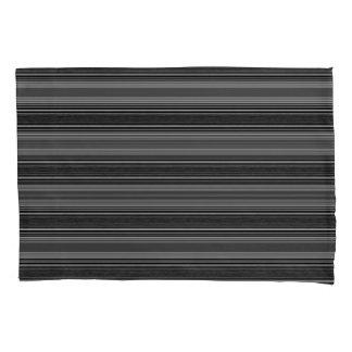 Horiz/Stripes Grays Modern Pillowcase Set