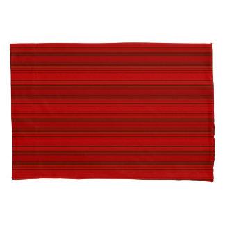 Horiz/Stripes Red Modern Pillowcase Set