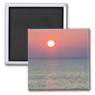 Horizon at sunset, Aegean Sea, Turkey Square Magnet