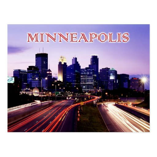 Horizon au crépuscule, Minneapolis, Minnesota Carte Postale