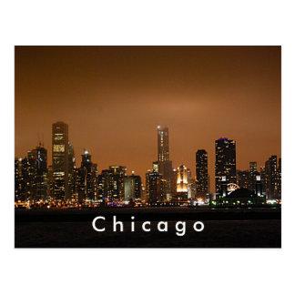 Horizon de Chicago au pilier de marine Cartes Postales