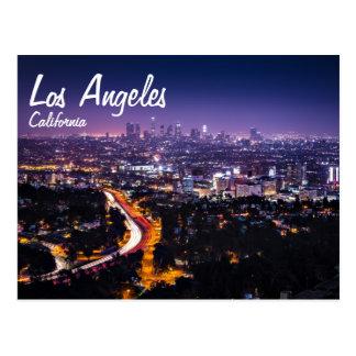 Horizon de Los Angeles, la Californie la nuit Cartes Postales