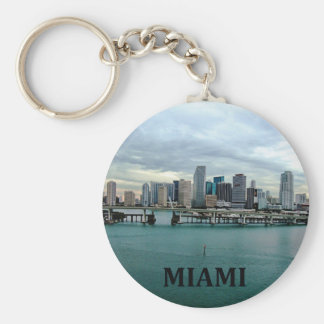 Horizon de Miami la Floride Porte-clé Rond