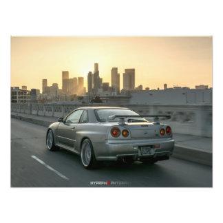 HORIZON DE NISSAN GT-R R34 À LOS ANGELES PHOTO SUR TOILE