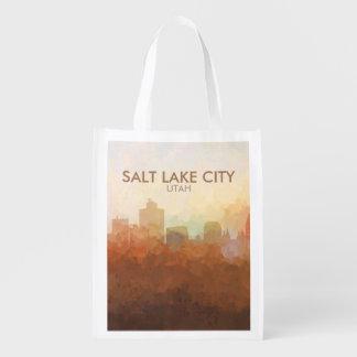 Horizon de Salt Lake City, Utah EN NUAGES Sac D'épicerie