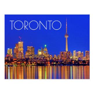 Horizon du centre de Toronto la nuit Carte Postale