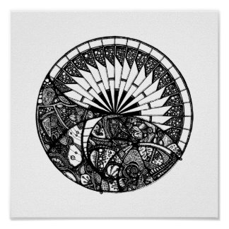 Horizon Mandala Poster