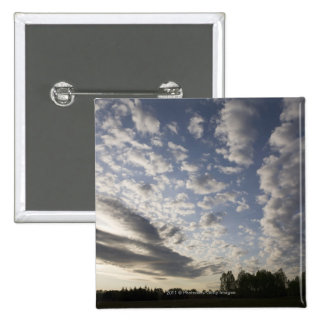 Horizon Sky View with Clouds 2 Inch Square Button