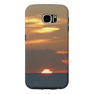 Horizon Sunset Colorful Seascape Photography Samsung Galaxy S6 Cases