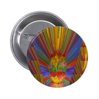 Horizon Sunset Golden Sparkles DIY Gifts COLORFUL 2 Inch Round Button
