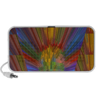 Horizon Sunset Golden Sparkles DIY Gifts COLORFUL Laptop Speakers