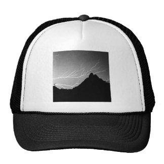 Horizonal Lightning Storm BW Hats