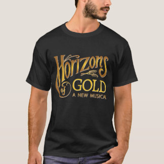 Horizons of Gold black men's t-shirt