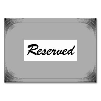 "Horizontal 3.5"" x 5"" Tablecard Reverved Card"
