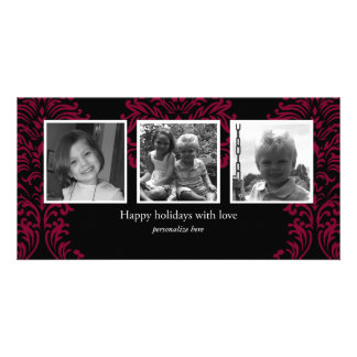 Horizontal 3-photo card picture card