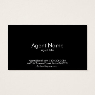 Horizontal Amherst Madison Business Card- No Photo Business Card