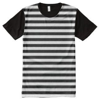 Horizontal Black and White Stripe Pattern