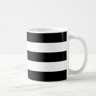 Horizontal Black Stripes Coffee Mug
