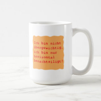 horizontal disadvantages coffee mug