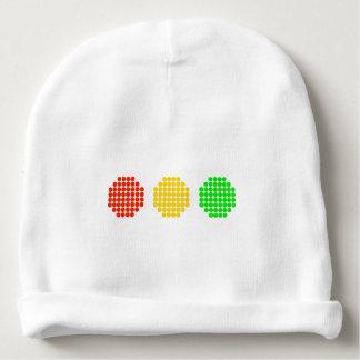 Horizontal Dot Stoplight Colors Baby Beanie