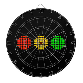 Horizontal Dot Stoplight Colors Dartboard