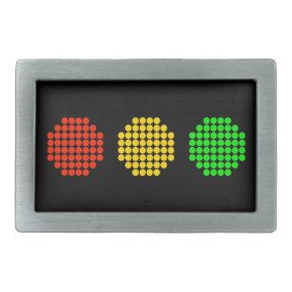 Horizontal Dot Stoplight Colors Rectangular Belt Buckle