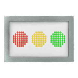 Horizontal Dot Stoplight Colors Rectangular Belt Buckles