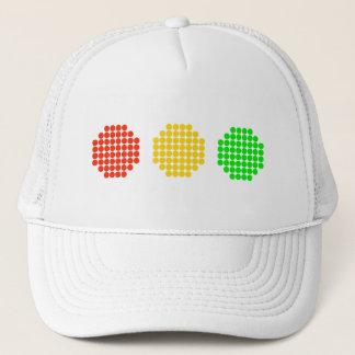 Horizontal Dot Stoplight Colors Trucker Hat