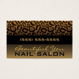 Horizontal Leopard Print Business Card