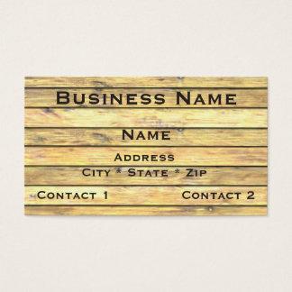 Horizontal Light Wood Planks Business Card