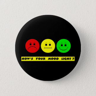 Horizontal Moody Stoplight Mood Light 2 Inch Round Button