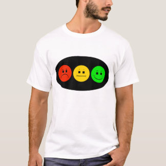 Horizontal Moody Stoplight on Oval T-Shirt
