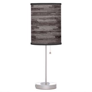 Horizontal Narrow Planks of Weathered Grey Wood Table Lamp