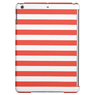 Horizontal Red Stripes Cover For iPad Air