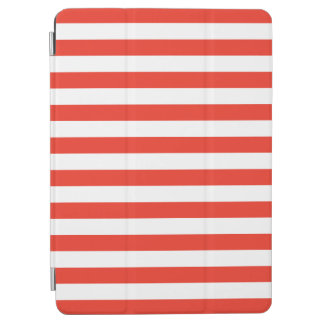 Horizontal Red Stripes iPad Air Cover