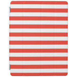 Horizontal Red Stripes iPad Cover