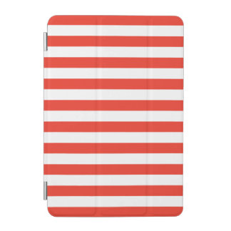 Horizontal Red Stripes iPad Mini Cover