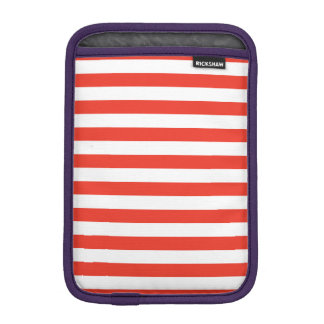 Horizontal Red Stripes iPad Mini Sleeve
