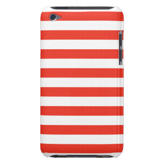 Horizontal Red Stripes iPod Case-Mate Case